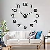 SOLEDI Reloj de Pared 3D DIY Reloj de Etiqueta de Pared Decoración Ideal para la Casa Oficina Hotel...