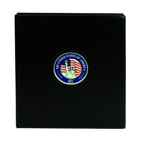 SAFE 7349 MÜNZALBUM PREMIUM USA PRESIDENTIAL DOLLARS : mit 4 x 7392 Münzblättern & farbigen Vordruckblättern für alle 88 x US Dollar beider Prägeanstalten - mit farbiger 3 D Plakette - Flaggenset & Jahrgangsset - Geschenkschuber - von Geoge Washington bis Barak Obama + GRATIS 1 US DOLLAR GEORGE WASHINGTON 2007 !! -