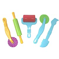 Kids B Crafty Set Of 5 Dough Tools Including Rolling Pin Modelling Craft Supplies Kitchen