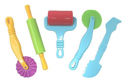 Kids b crafty - kit per creare con pasta, confezione da 5 attrezzi plastilina