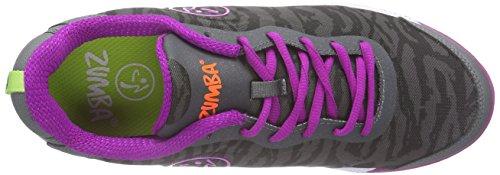 Zumba Footwear - Zumba Impact Pulse, Scarpe Da Ginnastica da donna grigio (graphite camo)