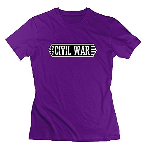 Nana-Custom Tees Damen T-Shirt Gr. M, Schwarz - Violett - Casa Kcups