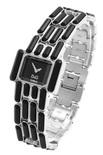 D&G DW0472 – Reloj de Señora movimiento de cuarzo con brazalete metálico negro