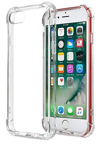 negozio online f98c8 a3eb1 HUSHCO Cover iPhone 6, Cover iPhone 6s, Custodia Trasparente Antiurto  Paraurti Silicone Trasparente Cover TPU per iPhone 6 / 6S - Trasparente