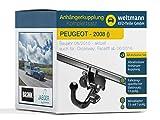 Weltmann AHK Kit Complet Peugeot 2008 Brink avec attelage de remorque Amovible + kit...