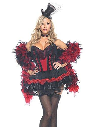 DELUXE Kostüm SALOON-GIRL ROT Gr. S