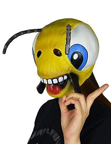 larpgears Halloween Costume Party Latex Masque animal mignon abeille en caoutchouc masque enfant et ado Taille