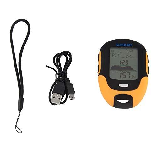 Leenbonnie altimetro digitale portatile multifunzione fr500 altimetro impermeabile schermo lcd display per uso esterno barometro dispositivo arancione e nero