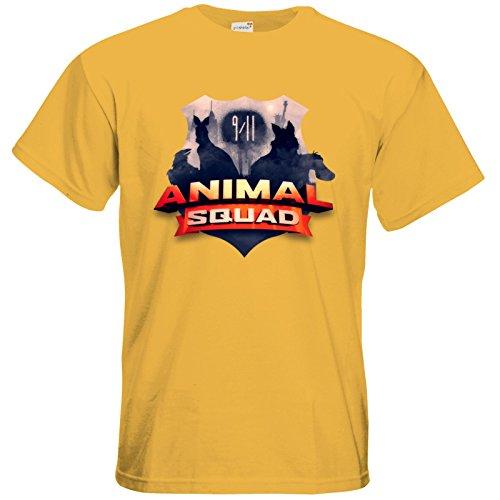 getshirts - Rocket Beans TV Official Merchandising - T-Shirt - Pen & Paper - Animal Squad Logo Gold