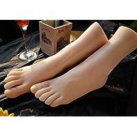 1 Par Silicona Maniquí Pie, Fetichismo del pie, juego de pies con la masturbación, juguete para el pie, modelo de pie de 36A para niña, pasatiempo del tobillo, simulación del pie,rightfoot