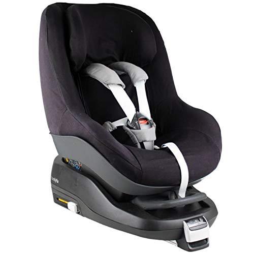 Housse Siege Auto Bebe Pour Coque Maxi Cosi 2waypearl, Bebe Confort  Accessoire Enfant Indispensable pour plus de Confort  Coton Oeko-Tex Certifié Noir  Monochrome