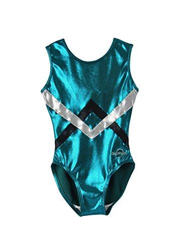 obersee-girls-o3gl002-chevron-gymnastics-leotard-verde-argento-nero-medio
