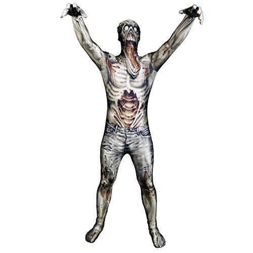 Zombie Morphsuit Verkleidung, Kostüm Xlarge - 5'10-6'1 (176cm-185cm) (Haloween Kostüm)