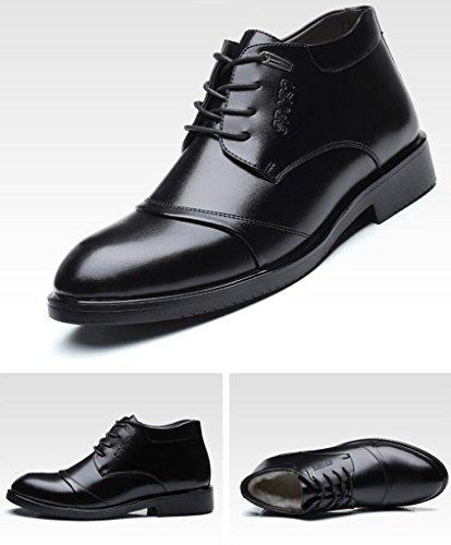 Haute Chaussures En Cuir Hommes Hiver Bottes Bottes Bottes En Peluche Automne 58f2ae