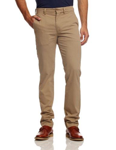 dockers-d-zero-pantalon-uni-coton-stretch-homme-beige-british-khaki-w30-l32