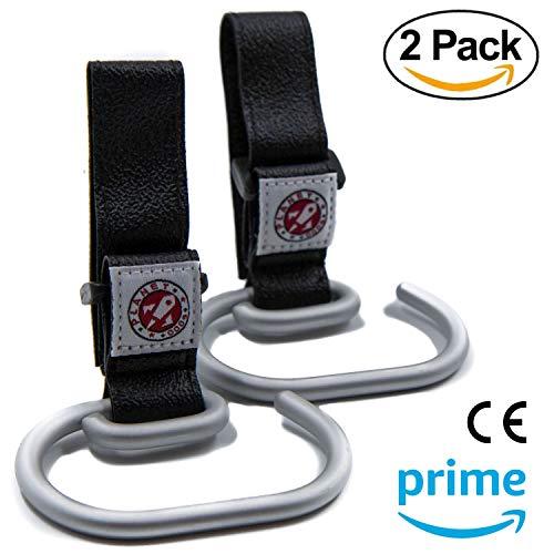 2 X Universelle Kinderwagenhaken - Kinderwagen Taschenhaken | Beständiger Taschenhalter aus Aluminium Haken Stuhlrollen Multifunktion