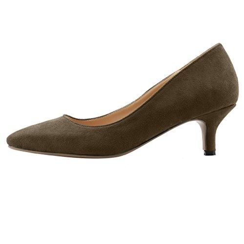 Calaier Ladies Cahalfway 5,5 Cm Stiletto Slip On Pumps Scarpe Grigie