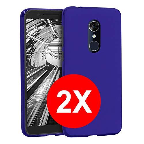 TBOC 2X Blau Gel TPU Hülle für Alcatel 3L [5.5 Zoll] [Pack: Zwei Einheiten] Ultradünn Flexibel Silikon Gehäuse für Handy