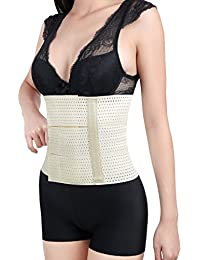 sourcingmap® Beige Mesh Breathable Postpartum Belly Abdominal Shaping Belt Waist Wrapping Shaper Cincher Corset Shapewear