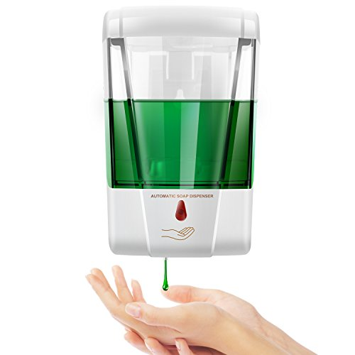 StillCool Distributeur De Savon 600ml Automatique Distributeur de Savon Mural Détection Infrarouge...