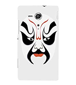 EPICCASE Beijing Opera White Mask Mobile Back Case Cover For Sony Xperia SP (Designer Case)