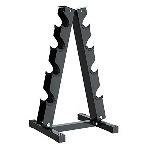NBRTT Hantelständer aus massivem Stahl, A-Rahmen-Ablagegestelle, Hantel-Schwarz-A-Rahmen, Hantelset für Heimgymnastikübungen, Turm mit Tiergewichtsgestellen