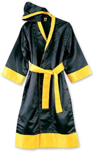 M.A.R International Ltd. Boxen und Kickboxen Bademantel Muay Thai Gewand Martial Arts Training Supplies Gear Polyester Seide Satin Stoff Small Mehrfarbig - schwarz/gelb Adidas Warm Ups