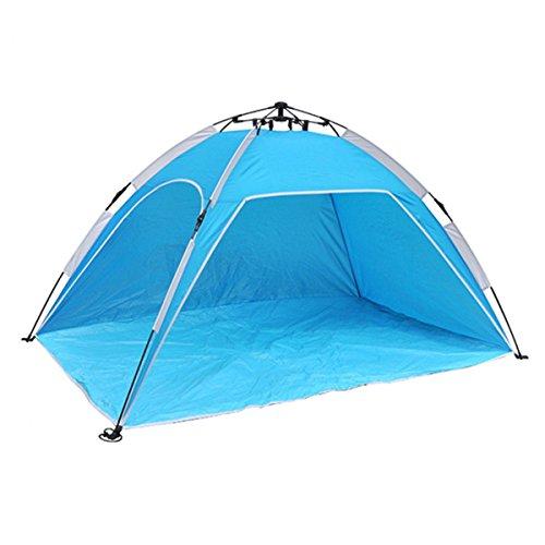 Strandmuschel XL Strand Muschel + Tasche Sonnen Wind Sicht Schutz 200x120x100cm