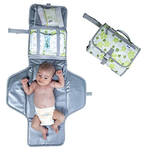 Fasciatoio Portatile Pieghevole Neonato Bambino di 2a Generazione Salvaspazio Richiudibile Da Viaggio Materassino Morbido Con Cuscino Imbottito