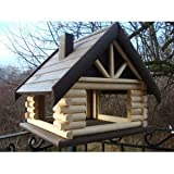 Exclusive 2XL Large Wooden Bird Table House Bird Feeder & Nesting House