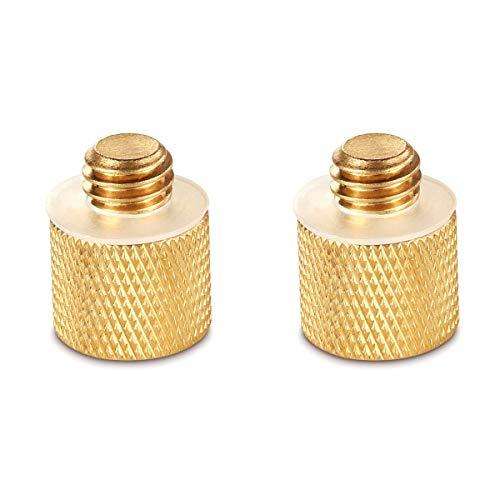 SMALLRIG 1/4-Zoll-20 Buchse auf 3/8-Zoll-16 Steckergewinde Adapter für DSLR Kamera, Stativ, Quick Release Adapter, Kamera Schulter Rig (2 Stück) - 1069