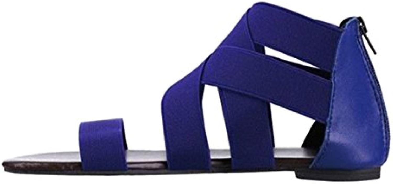 hongxin femmes chers sandales gladiateur faible fermeture rome à plat sandales des chaussures noires tongs sandales plat de plage d0e80f