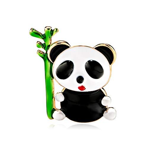 Yazilind Frauen Cartoon Panda Broschen Nette Mini Tier Emaille Anstecknadeln Abzeichen Schmuck