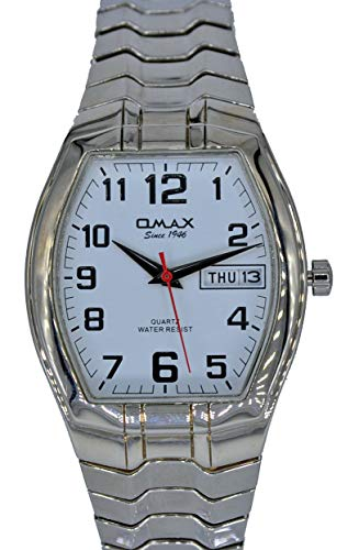 Omax 00EXZ109PP03 Damenuhr Zugband Flexband Datum