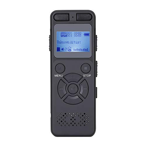 BESTSUGER Recording Pen, Metal Hd Noise Reduction Recorder, 8Gb Storage Memory Professional 1536K Voice-Activated Card One-Button Recording