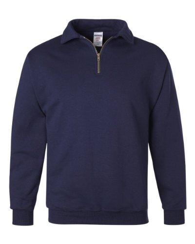 Jerzees-baumwolle-pullover (Jerzees Super schwitzt Pullover Sweatshirt (50% Baumwolle, 50% Polyester) Gr. Large, J NAVY)