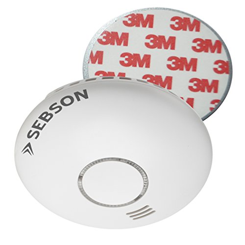 Foto de SEBSON Detector de Humo Inalambrico con Detector de Calor, incluye Soporte Magnético, DIN EN 14604, Detectores fotoeléctricos de Humo, GS558