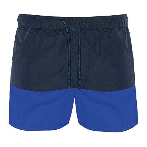 Brave Soul Herren Badeshort blau blau Small Gr. Large, Navy Blue/Cobalt Blue Cobalt Blue Plain