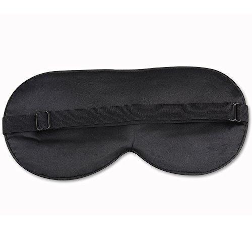 ANKOVO Antifaz para dormir hecho de seda natural  muy suave  ideal para viajes  turnos de trabajo y meditación