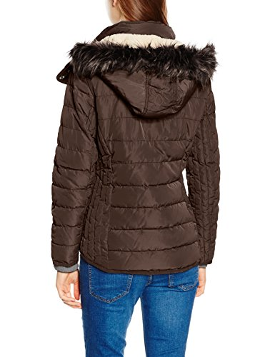 Tom Tailor Casual Padded Jacket, Blouson Femme Marron (Cappuccino Brown)