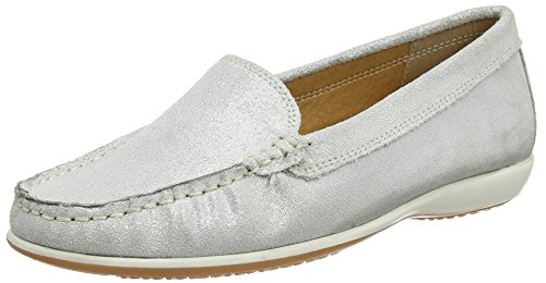 Lotus Damen Conforti Slipper Silberfarben