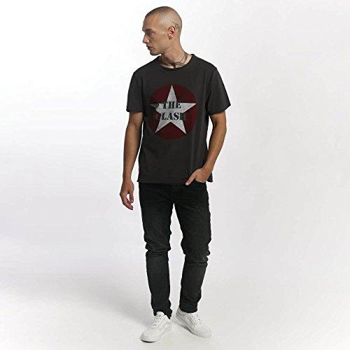 Amplified Herren Oberteile/T-Shirt The Clash Star Logo Grau