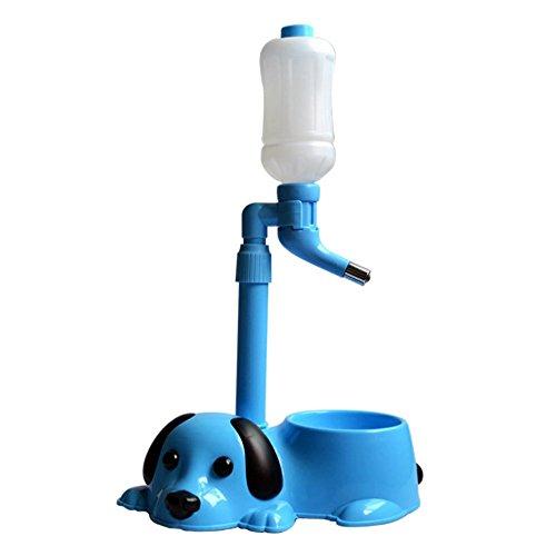 L&XY Pet Automatic Water Drinkerset Dripless Trinkspender Anti-Rutsch-Multifunktions-Schüssel, Stand Automatische Feeder Für Haustiere (Blau, Pink, Gelb),Blue