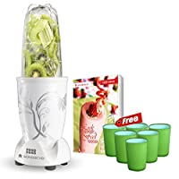 Wonderchef 400 Watt Nutri-Blend White with free set of 6 Glasses and Recipe Book by Sanjeev Kapoor