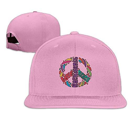 Peace, Love & Rock'n Roll Baseball Hats Men and Women Flat Billed Adjustable Fashion Peaked Cap -