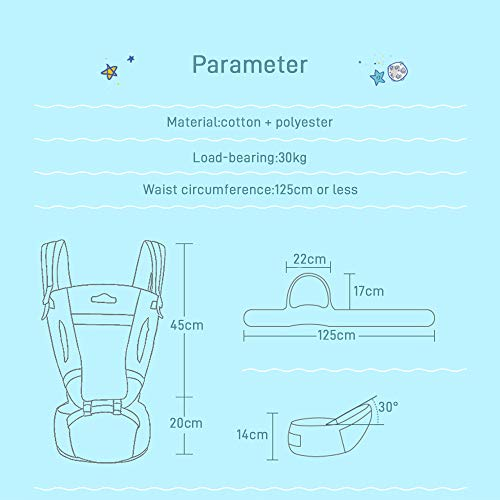 Kidsidol 4 in 1 Baby Carrier Hipseat Ergonomic Front Facing Infant Sling Backpack Detachable 4 Safe and Comfortable Positions Suitable for 0-3 Years Old Baby  Kidsidol