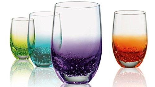 Artland Sprudelnde sortiert Farbe 3Unze Shot Glas, Set 4 -