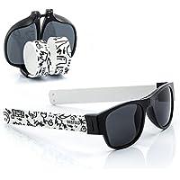 Sunfold Street Gafas de Sol Enrollables, Hombre, Negro y Blanco, Talla Única