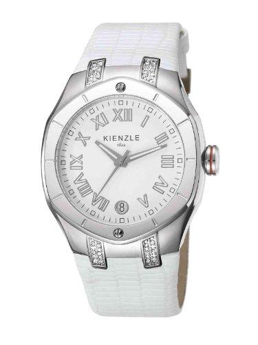 Kienzle - K5022012021-00055 - Montre Femme - Quartz Analogique - Bracelet Cuir Blanc
