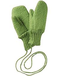 Disana Walk - Guantes de lana con cordones, de lana de origen biológico controlado verde L